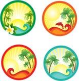 横幅海滩 免版税库存图片