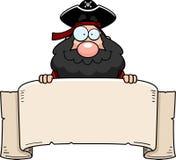 横幅海盗 库存照片
