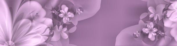 横幅深刻的花卉粉红色purples