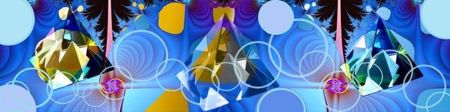 横幅清楚的连接数水晶标头 免版税库存图片