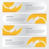 横幅火样式样式黄色颜色 库存例证