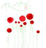 横幅玫瑰色向量 库存照片