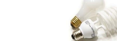横幅电灯泡万维网 库存图片