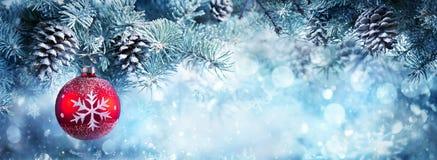 横幅的圣诞节装饰 免版税图库摄影