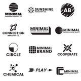 横幅的最小的传染媒介商标 免版税库存图片