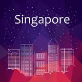 横幅的,海报,例证,比赛,背景新加坡 库存例证