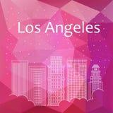 横幅的,海报,例证,比赛,背景洛杉矶 库存照片