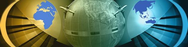横幅移动宽世界 免版税库存照片