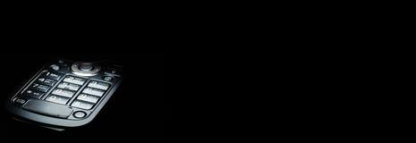 横幅移动电话关键董事会介绍 免版税库存照片