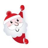 横幅空白克劳斯藏品圣诞老人符号 免版税图库摄影