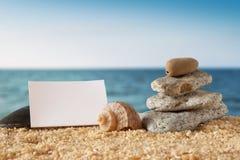 横幅空白海洋纸张场面 免版税库存图片