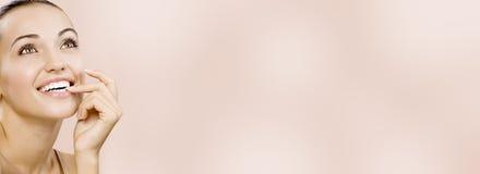 横幅粉红色 免版税库存图片