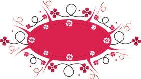 横幅粉红色 库存照片