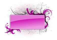 横幅紫色 库存图片