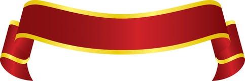 横幅红色向量 免版税库存照片