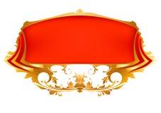 横幅红色 皇族释放例证