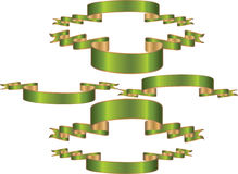 横幅绿色 免版税图库摄影