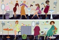 横幅美容院工作者 免版税库存图片