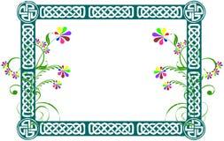 横幅花卉框架 免版税库存照片