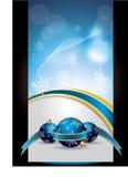 横幅蓝色圣诞节向量 免版税库存图片