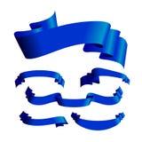 横幅蓝色设置了六 免版税库存图片