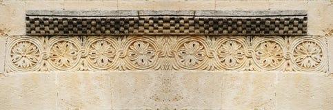 横幅被雕刻的石头 库存照片
