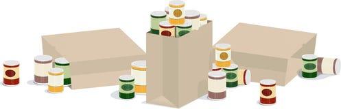 横幅装好于罐中 免版税库存图片
