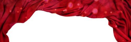 横幅装饰在白色被隔绝的背景的红色 免版税库存图片
