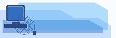 横幅计算机 免版税图库摄影