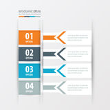横幅设计橙色箭头的样式,蓝色,灰色颜色 库存例证