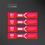 横幅设计箭头样式氖桃红色 皇族释放例证