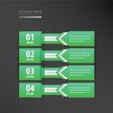横幅设计箭头样式氖绿色 库存例证