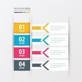 横幅设计箭头样式黄色,蓝色,桃红色颜色 向量例证