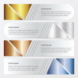 横幅设计金子,古铜,银,蓝色颜色 库存例证