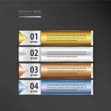 横幅设计集合金子,古铜,银,蓝色颜色 向量例证