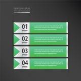横幅设计集合霓虹绿色 免版税图库摄影