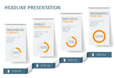 横幅跨步企业infographic模板 能为网络设计和工作流布局使用 花卉结构梯度ilustration没有向量 库存照片