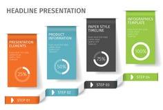 横幅跨步企业infographic模板 能为网络设计和工作流布局使用 花卉结构梯度ilustration没有向量 免版税库存照片