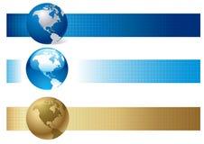 横幅选择世界 免版税库存图片