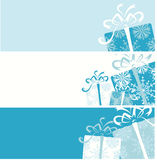 横幅配件箱圣诞节您设计的礼品 库存例证