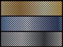 横幅金属模板 免版税图库摄影
