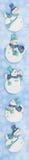 横幅雪人 免版税图库摄影