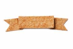 横幅面包油炸马铃薯片 免版税库存图片