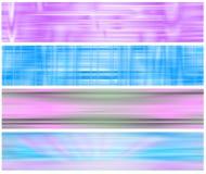 横幅飘渺四集合万维网 库存例证