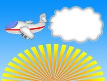 横幅飞机 免版税图库摄影
