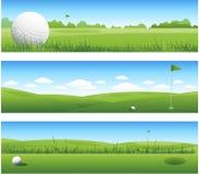 横幅高尔夫球例证横向 免版税库存图片