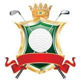 横幅高尔夫球红色 免版税库存照片
