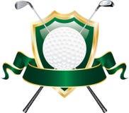 横幅高尔夫球绿色 免版税库存照片