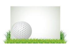 横幅高尔夫球 免版税图库摄影