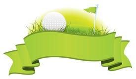 横幅高尔夫球 免版税库存照片